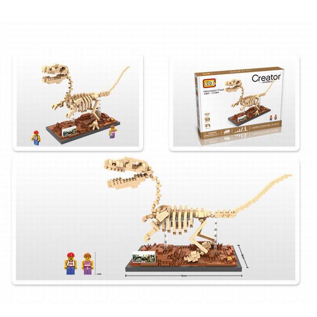 LOZ Mini Micro Building Blocks Dinosaur Fossil DIY 3D Bricks Tyrannosaurus Rex Blocks