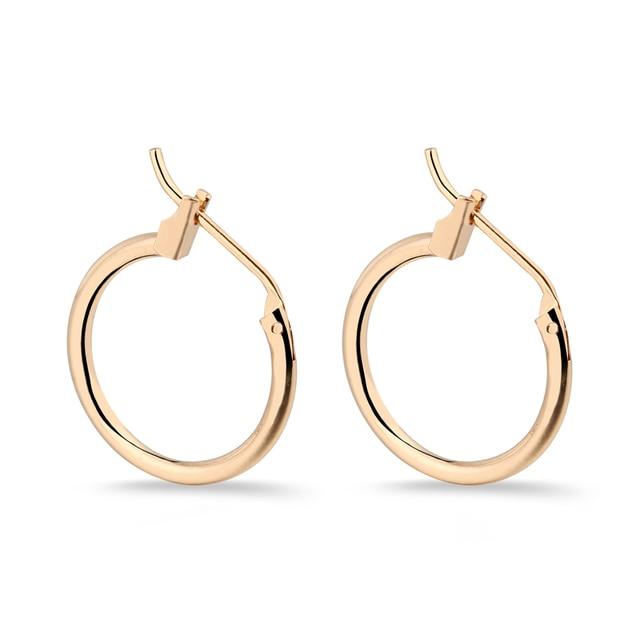 1pair Hippie Small Circle Hoop Earrings 13 16 19mm Handmade Simple