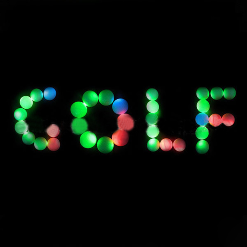 LED Golf Balls Flashing Light Up Blink Color Night Training Golf Practice Ball YS-BUY