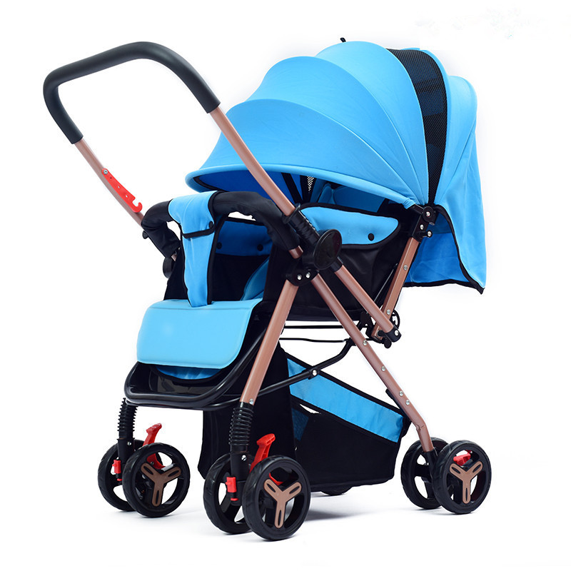 Us 37 06 49 Off Lightweight Baby Strollers Folding Portable Four Wheeled Trolley Baby Carrier Cart Umbrella Stroller Carrinho De Bebe Pushchair In