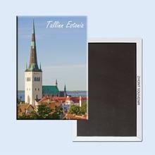 Tallinn Estonia 22660  beautiful scenery gifts for friends  Magnetic refrigerator  ,Souvenirs of  Tourist Landscape terhi pääskylä malmström minu tallinn kalevitüdruku kroonika