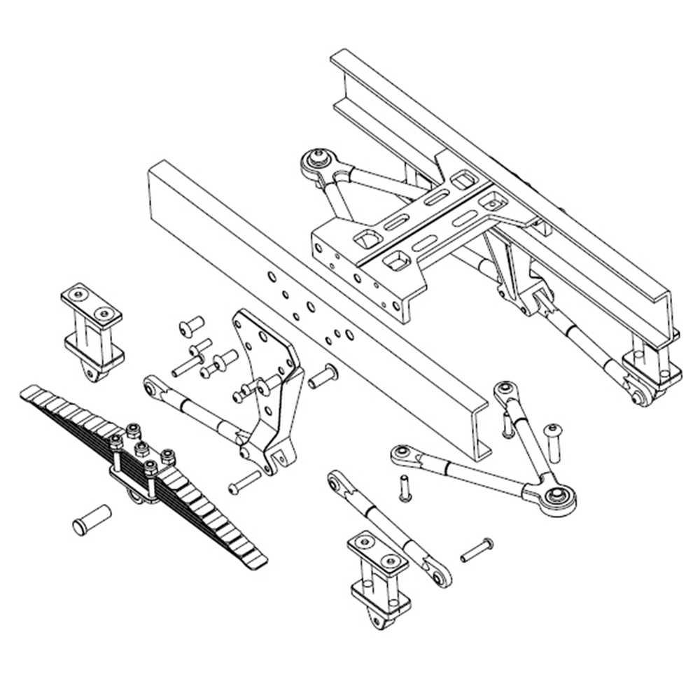 1 Sets Metal Rear Suspension for TAMIYA 1/14 RC Truck