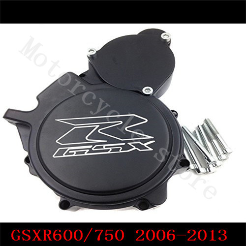 Fit for Suzuki GSXR600 GSXR750 2006 2007 2008 2009 2010 2011 2012 2013 Motorcycle Engine Stator cover Black Left side K6 K8 K11 motocross dirt bike enduro off road wheel rim spoke shrouds skins covers for yamaha yzf r6 2005 2006 2007 2008 2009 2010 2011 20