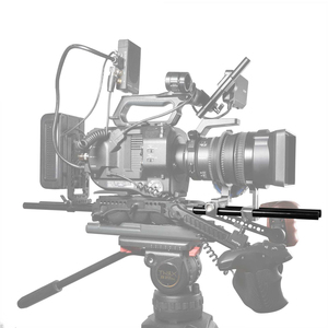 Image 5 - SmallRig 2pcs 15mm שחור אלומיניום סגסוגת מוט (M12 25cm) 10 אינץ מוט 1052