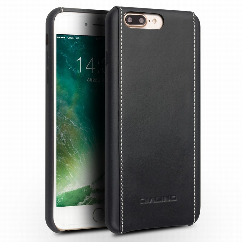 For iPhone 7 Plus 5 5 inch Hard Cases QIALINO Genuine Leather Coated Hard Cover for