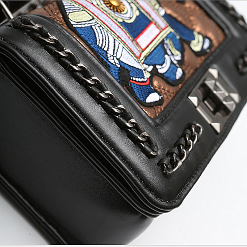 2019 New Arrival Elephant Embroidery women bag beach shoulder crossbody bags leather handbags summer messenger luxury evening in Shoulder Bags from Luggage Bags