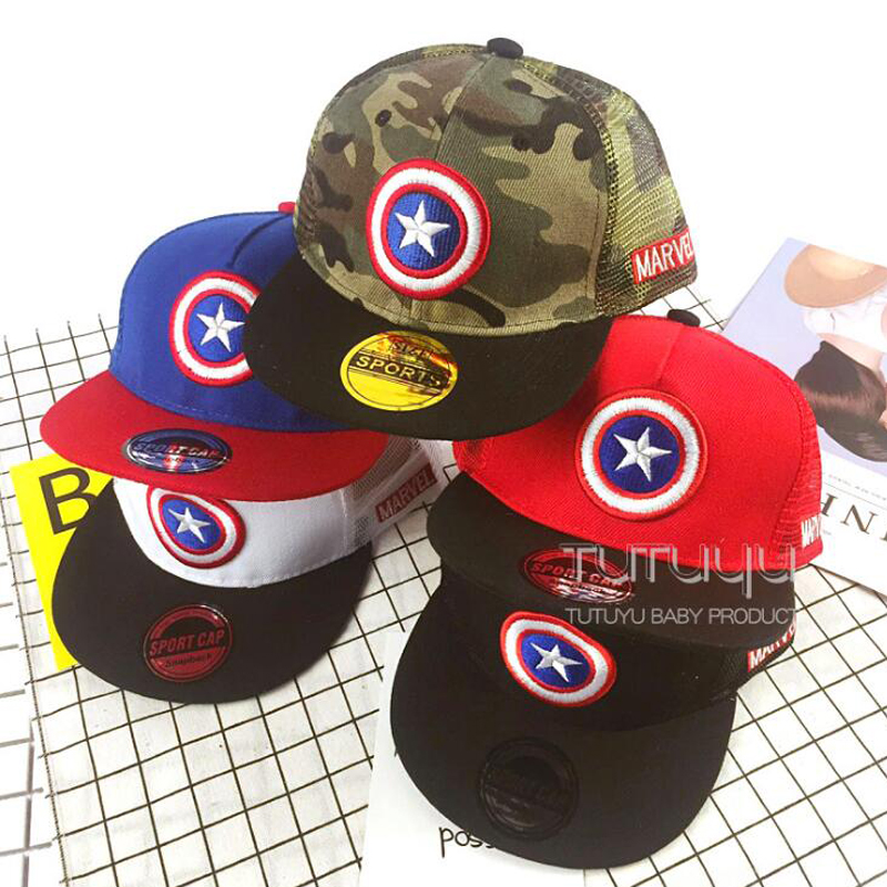 Summer New Captain 2017 Brand Baseball Caps Cartoon Casual Hat Hip-Hop Hats And Snapback Mesh Caps For Children brand kenmont new summer hats for women 100
