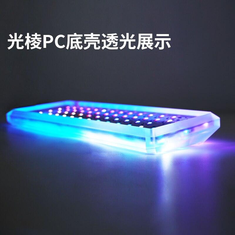 Acrylic-Case Mechanical-Keyboard Gh60 Frosted Anodized-Aluminium-Case Xd64 Purple Gk61