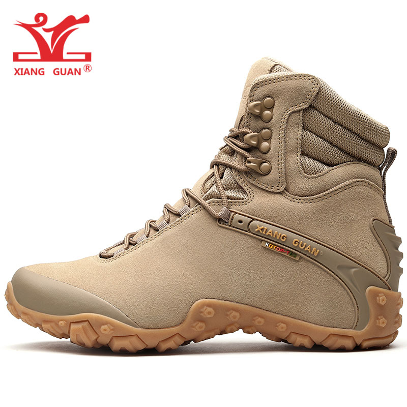 50245f595b6 Men Winter Hiking Boots Cow Leather For Women Outdoor Trail Non Slip Sport  Snow Shoes Climbing