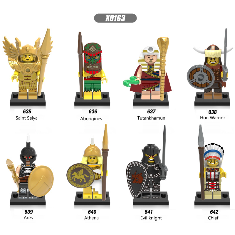 Saint Seiya Aborigines Tutankhamun Hun Warrior Ares Athena Evil Knight Building Blocks Figure Toys Gifts Compatible Legoed X0163