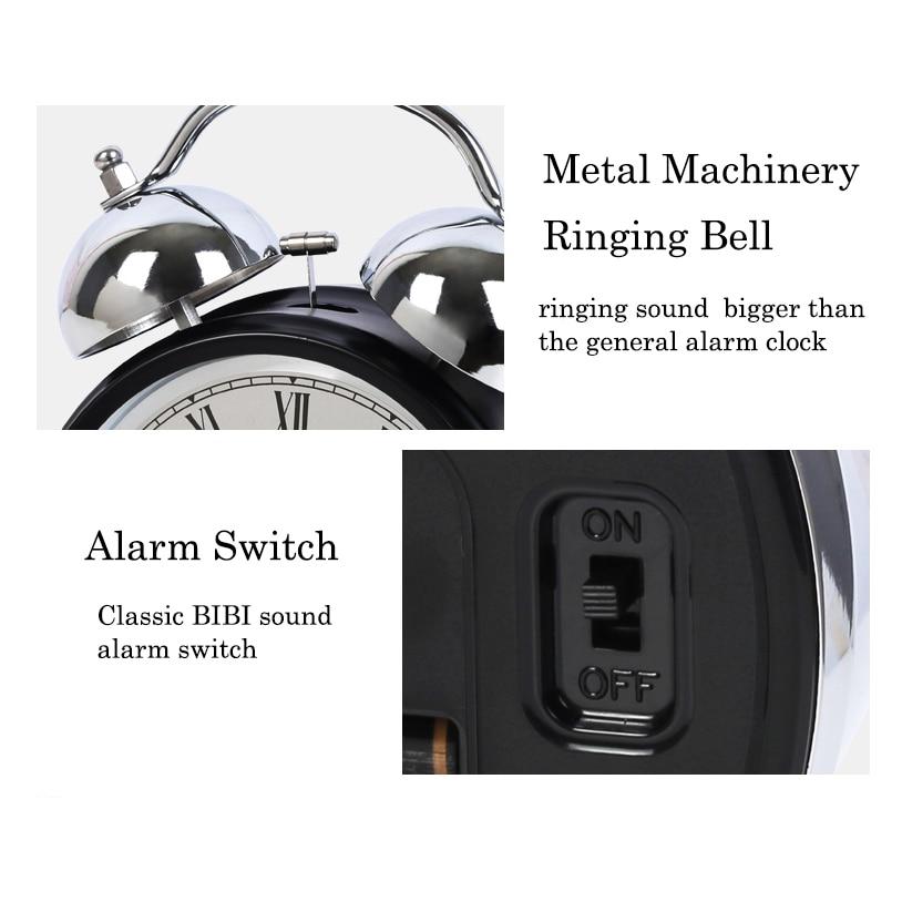 POWER Luminoso Mecánico Despertador Silencioso Cronómetro - Decoración del hogar - foto 5