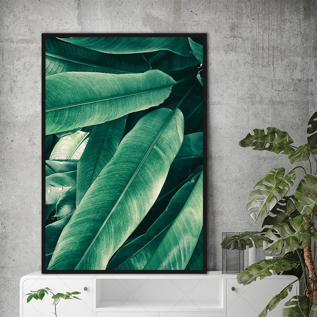 Nordic Modern Canvas 1 Panel Plant Wall Painting Art Home Green Leaf Top Sell