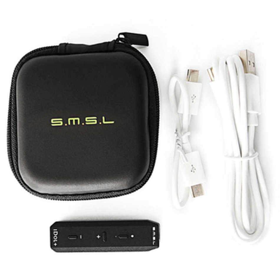 SMSL アイドル + ポータブルミニ USB オーディオ Dac とヘッドホンアンプミルコ USB DAC サポート OTG 24bit/192 125KHZ 黒銀