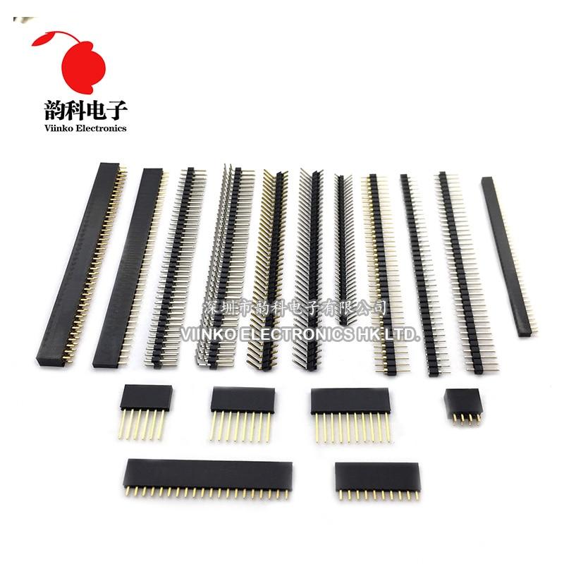 10pcs Female Pin Header Strip 40 Pin 2mm Single Row Female Pin Header