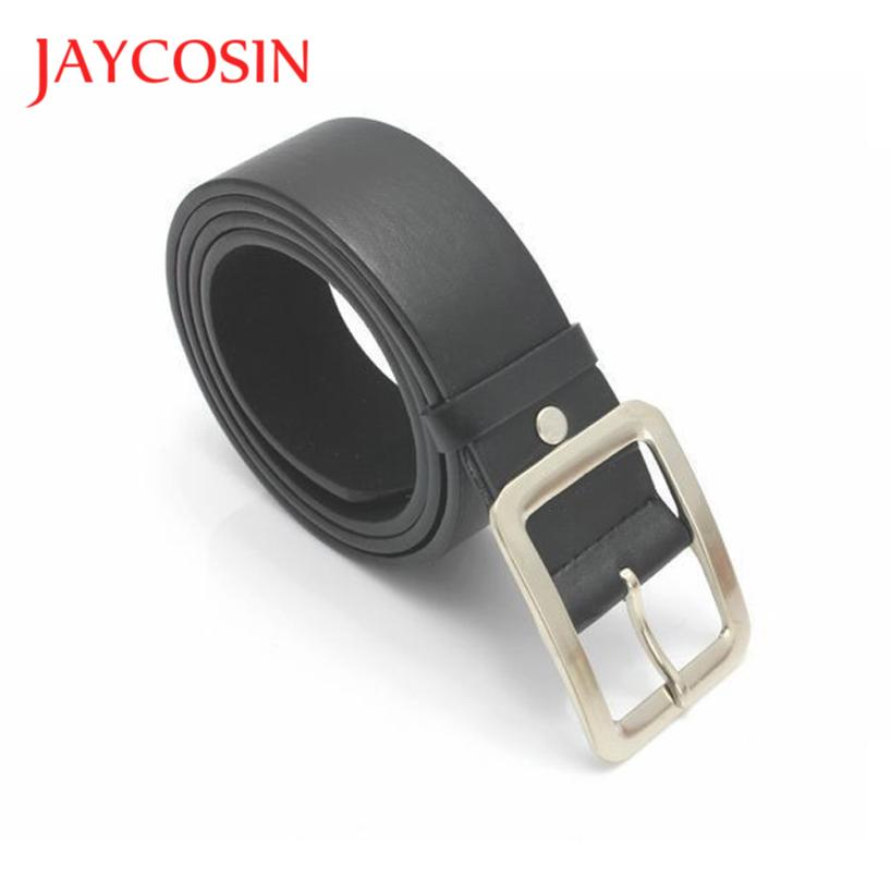 JAYCOSIN Men's Casual Faux Leather Square Pin Buckle Waist Belt Strap Drop Shipping