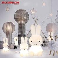 Rabbit Night Light Led Lamp Dimmable for Baby Children Kids Gift Animal Cartoon Decorative Bedside Bedroom Living Room 50CM/80CM