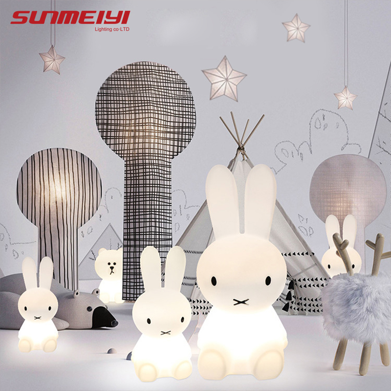 Rabbit Night Light Led Lamp Dimmable for Baby Children Kids Gift Animal Cartoon Decorative Bedside Bedroom Living Room 50CM/80CM