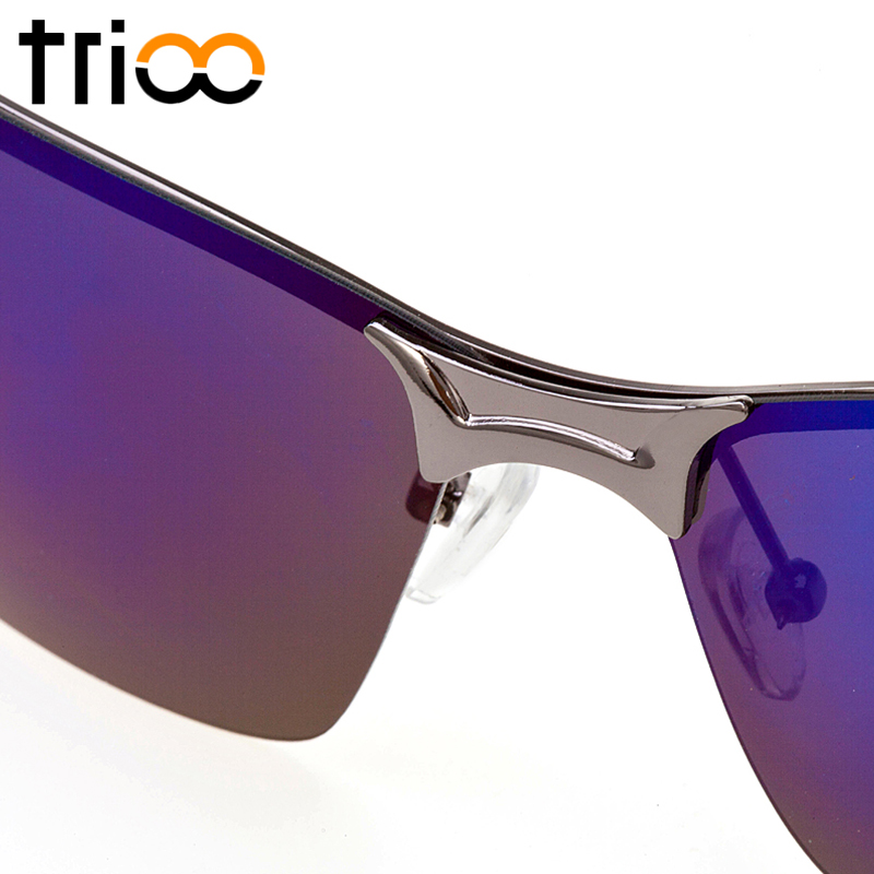 6f82de71de TRIOO Rimless Driving Sunglasses Polarized Men Professional Blue Lens  Oculos Masculino Summer UV400 High Quality Male Shades-in Sunglasses from  Apparel ...