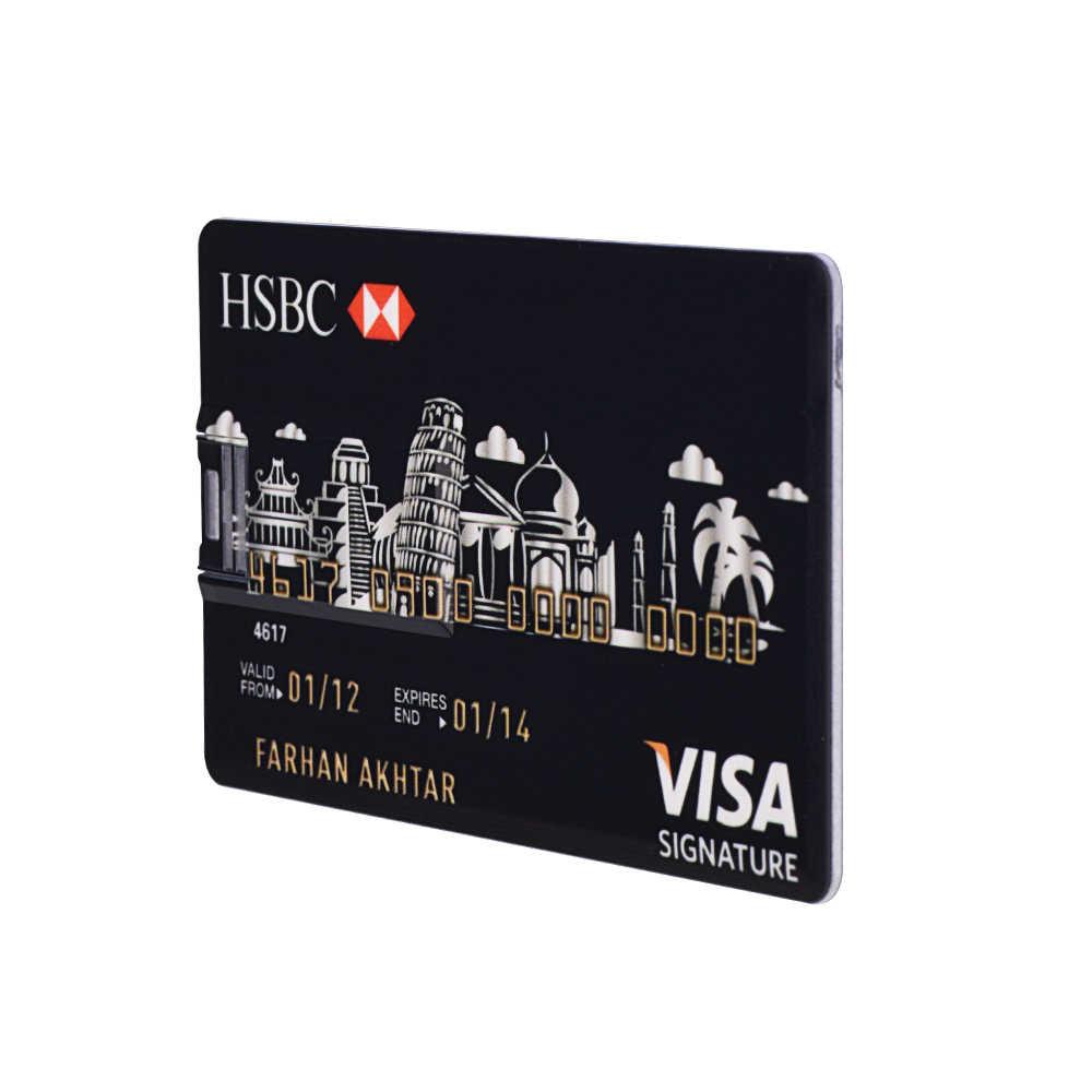 Real Capacity Bank Card USB Memory stick HSBC Master Credit card USB Flash  Drive 64gb Pendrive 4GB 8GB 16GB 32GB pen drive 128gb