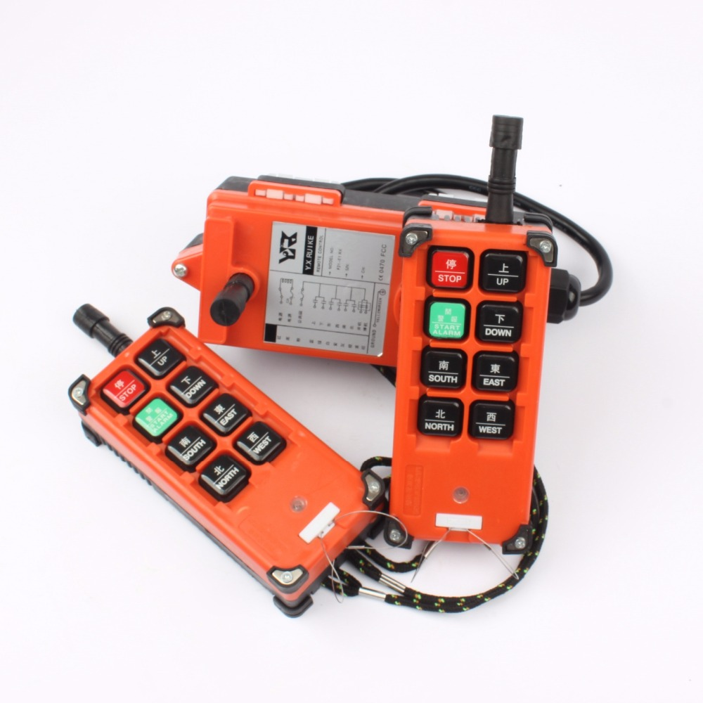 220 V 380 V 110 V 12 V 24 V industrielle télécommande commutateurs grue contrôle ascenseur grue 2 transmetteur + 1 récepteur F21-E1B - 3