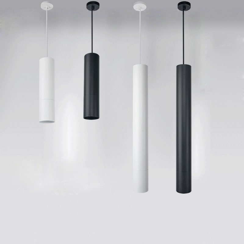 Fashion Led Pendant Lights Restaurant Dinning Room Bar Light Modern Cylindrical Black White Lamps Lighting 10w 15w 20w In From