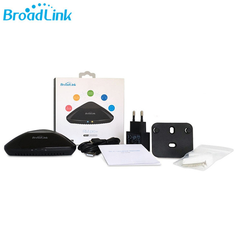 US $37 9 30% OFF Broadlink RM Pro+ EU standard Intelligent Remote Control  WiFi+IR+RF Smart Home Automation For IOS Android Phone Compatible Alexa-in