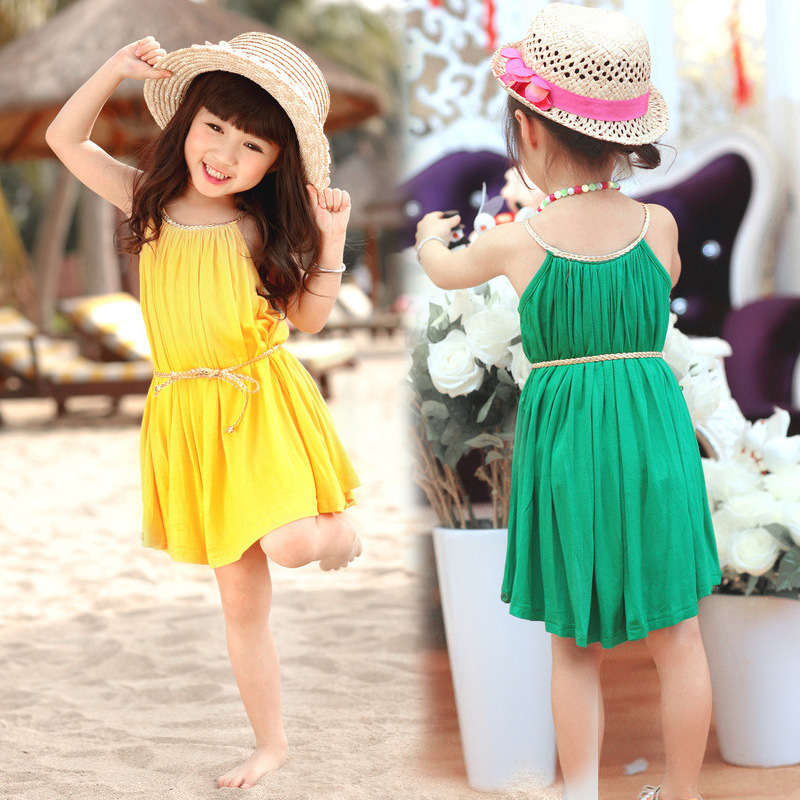 clearance new 2016 kid's summer dress Children Clothing Baby Girls ...