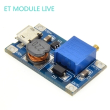 1pcs MT3608 2A Max DC-DC Step Up Power Module with MICRO USB Booster Power Module For Arduino 3.3V/5V to 5V/9V/12V/24V