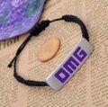 6pcs/lot fashion jewelry  metal letter omg plate bracelet