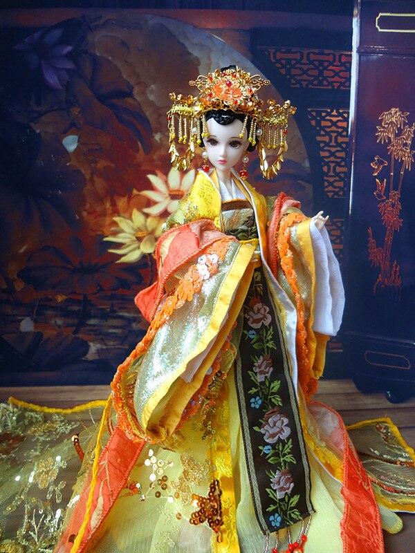 32 سنتيمتر التقليدية الصينية ملكة دمى جميلة فتاة bjd دمى الأفلام والتلفزيون بنات لعب هدايا عيد الميلاد لجمع-في الدمى من الألعاب والهوايات على  مجموعة 3