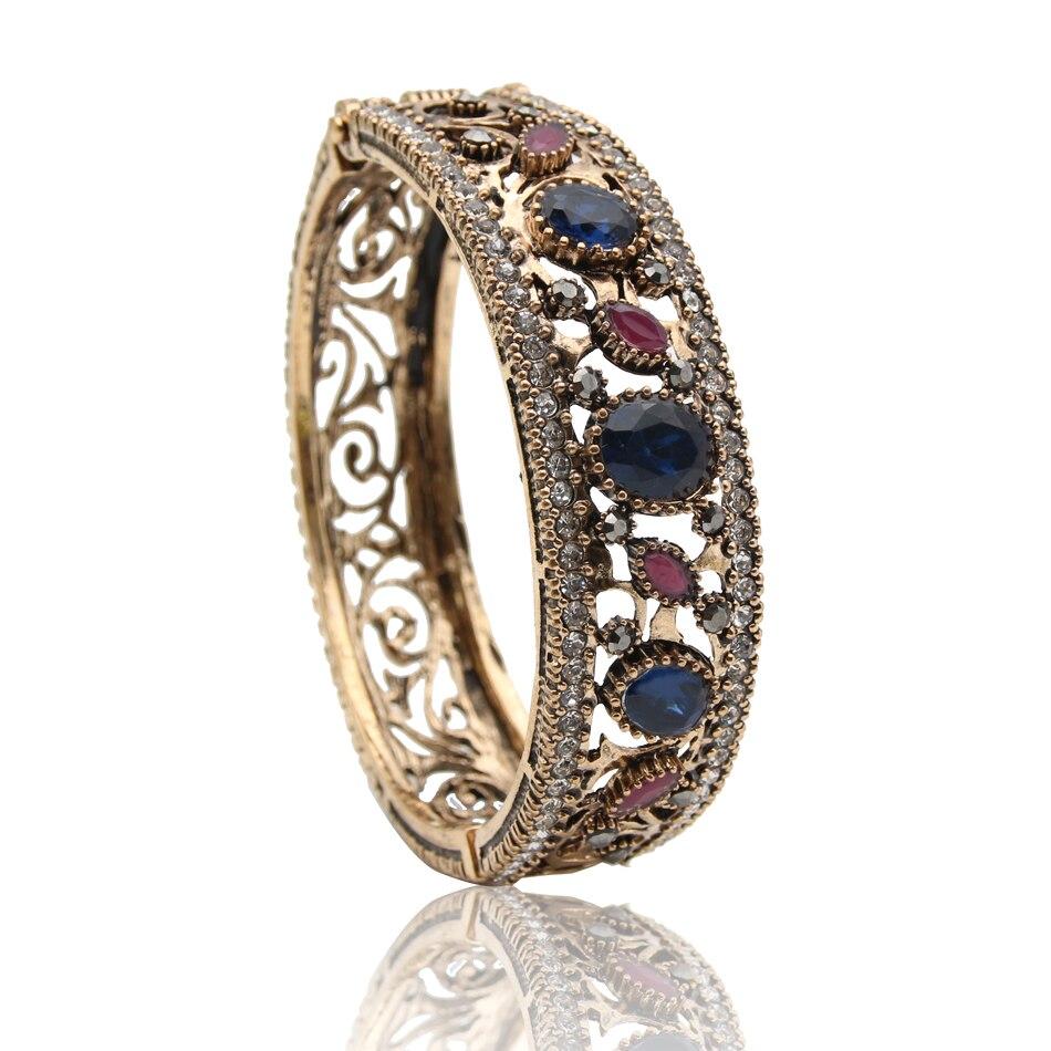 Bijoux Anciens Retro : Hot sale turkish vintage bangles flower bracelets gold