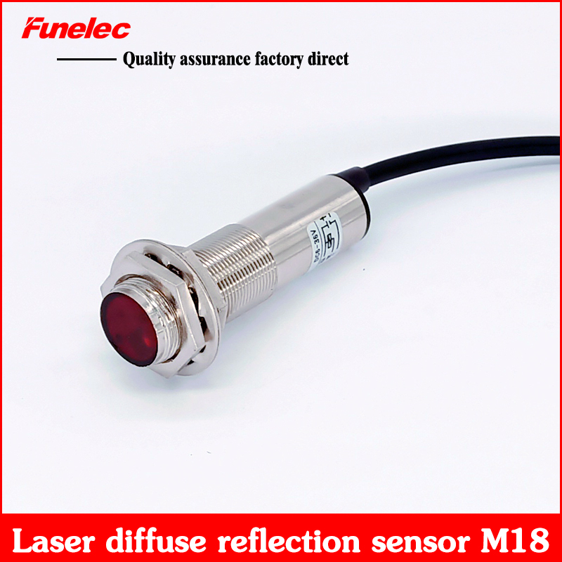 M18 Laser Induction Photoelectric Switch E3FN-J18P1 Close To Diffuse Reflection Sensor PNP Normally Open Long Distance