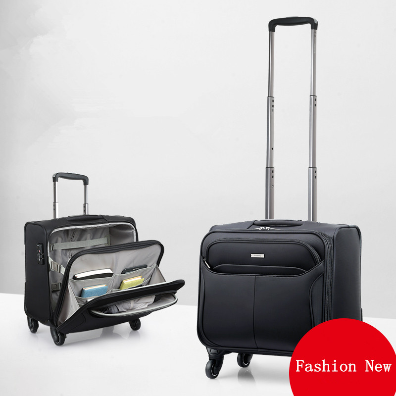 16 universal wheels trolley luggage commercial luggage small 18 luggage travel bag,high quality waterproof laptaptravel luggage