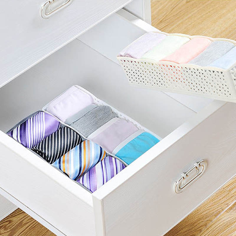 1 PC Drawer Type Socks Storage Box Plastic Home Storage Tools 5 Compartment Multifunction Underwear Case Clothes Organizer