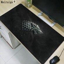 Mairuige Игра престолов Логотип ноутбука компьютер коврик для мыши Толстая Удобная натуральная резиновая клавиатура большой замок край коврик для мыши