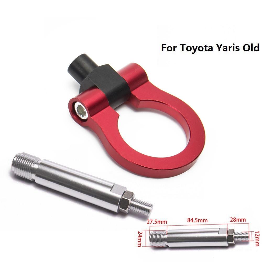Спортивный EPMAN Jdm Алюминиевый Forge передний фаркоп передний задний для Toyota Yaris старый EP-RTHLPH007 - Название цвета: Красный
