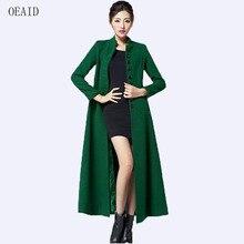 5772a502b34 OEAID длинное шерстяное пальто женские пальто 2018 осенне-зимнее пальто  женские модная куртка пальто узкого