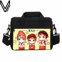 VEEVANV Hamburger EXO Prints Lunch Bags Food Storage Container Women Thermal Lunch Box Men Picnic Portable Insulated Cooler Bags