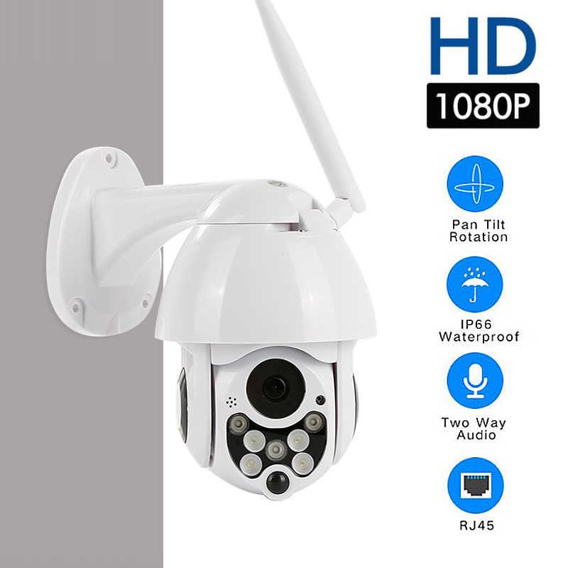 Pengawasan Keamanan Kamera 4X Zoom 1080P HD Wireless PTZ Dome Ip Kamera Wifi Smart IR Malam Versi Outdoor FHD CCTV Video
