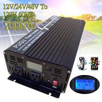 2000 Вт автомобиль Чистая синусоида постоянного тока для Мощность инвертор P ЕАК 4000 Вт 12 В/24 В /48 В до 120 В/220 В с ЖК дисплей Дисплей USB для автомоб