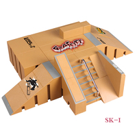 SK I 8 Pcs Combination Finger Skateboard Park Ramp & Fingerboard Parts for Tech Deck & Finger Board Stage Property