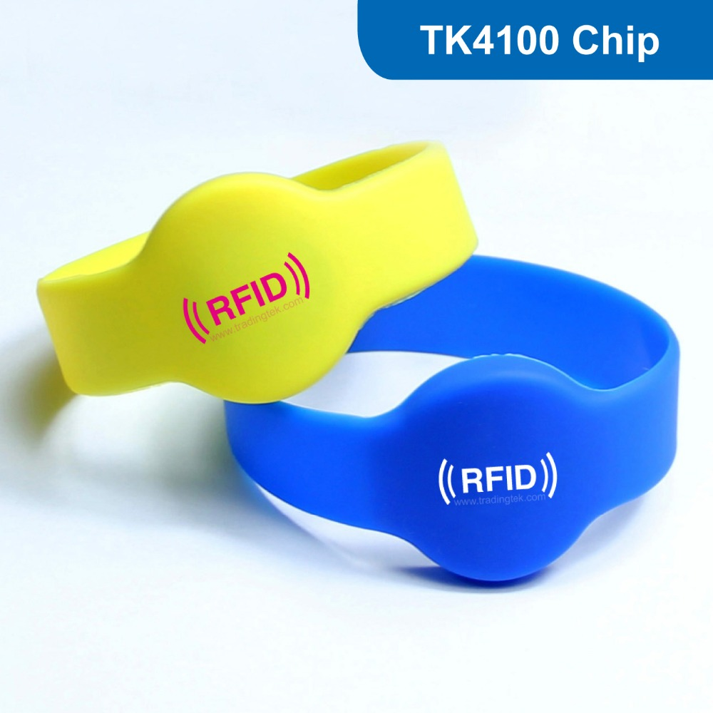 WB02 RFID Wristband, RFID Silicone bracelet Tag RFID Tag for Hotel Lock 125HKZ with TK4100 Chip Free Shipping 1000pcs long range rfid plastic seal tag alien h3 used for waste bin management and gas jar management