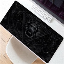 Mairuige 400x900X3 mm Large Gaming Mouse Pad Gamer Rug Lion Head Lock Edge Mousepad Keyboard Mouse Mat for CSGO DOTA 2 LOL Game