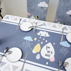 Image 4 - Parkshin Modern Decorative Tablecloth Home Kitchen Rectangle Waterproof Table Cloths Party Banquet Dining Table Cover 4 Size