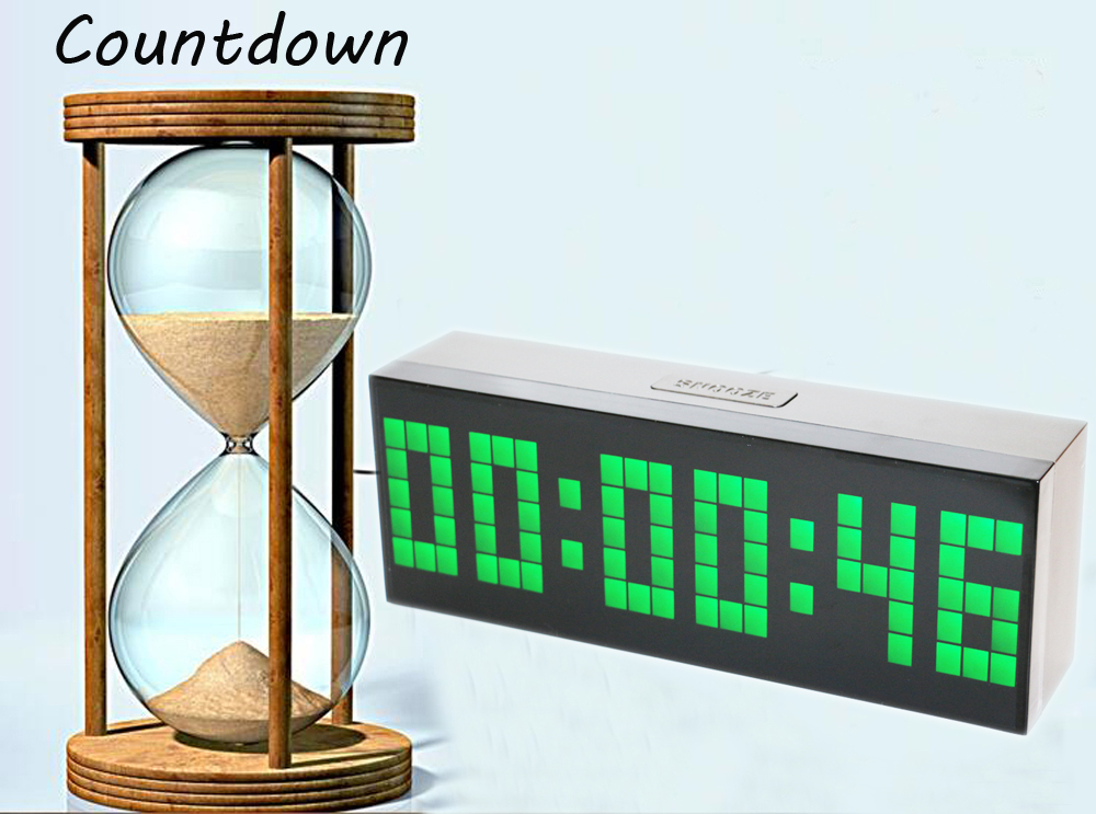 Desk Wall Led Digital Alarm Clock Countdown Timer Clock with - Home Decor - Photo 5