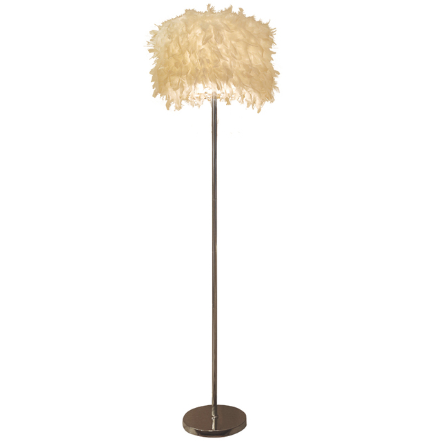 Moderne Home Feder Boden Leuchtet Kurze Mode Lampen Schlafzimmer