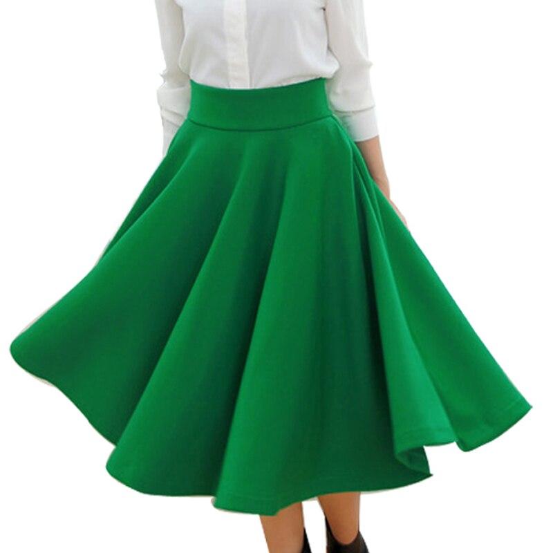 41196451997 ⊹Демисезонный Женская Мода Винтаж Юбки для женщин Высокая Талия ...