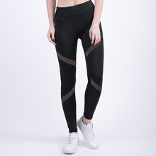 2017 Fashion Stretch Women s Mesh Leggings Fitness High Waist Splice Breathable Sporting Leggings Slim Fit