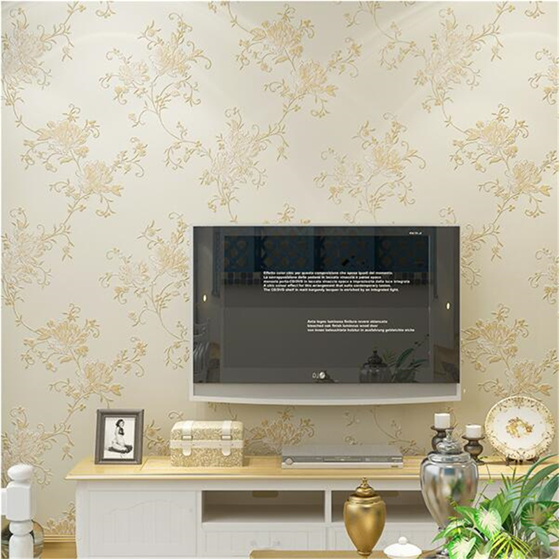 Beibehang papel de parede Nonwovens Continental Pastoral Wallpapers 3D Stereo Bedroom Warm Living Room Video Wallpaper Garden beibehang nonwovens healthy fashion