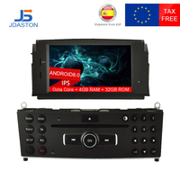 JDASTON 1 DIN Android 8.0 Car DVD Player For Mercedes Benz C200 C180 W204 2007 2010 WIFI Multimedia GPS Radio 4G+32G Octa Cores